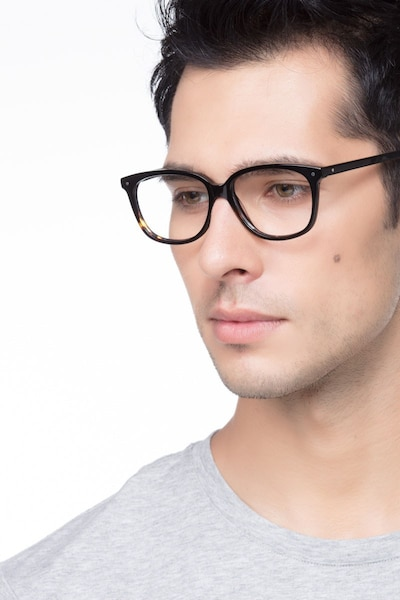 Escape Tortoise Acetate Eyeglass Frames for Men from EyeBuyDirect