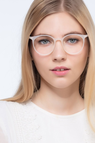 Portrait Clear Plastic Eyeglass Frames for Women from EyeBuyDirect, Front View