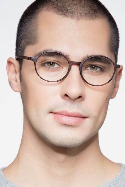 Poetic Matte tortoise Plastic Eyeglass Frames for Men from EyeBuyDirect