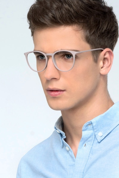 Dialogue Faded Rose Plastic Eyeglass Frames for Men from EyeBuyDirect, Front View