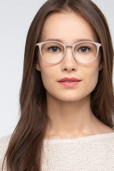 Dialogue Faded Rose Plastic Eyeglass Frames for Women from EyeBuyDirect, Front View