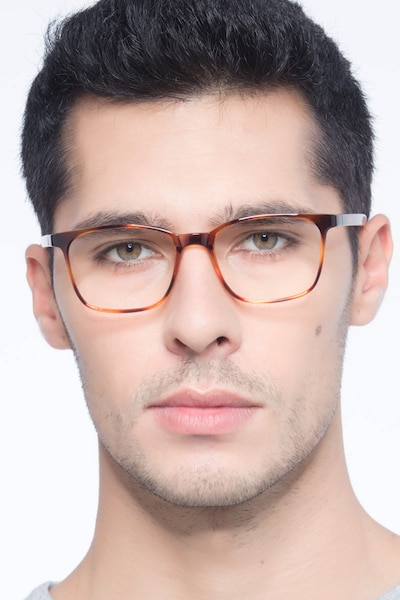 Soul Black Brown Plastic Eyeglass Frames for Men from EyeBuyDirect