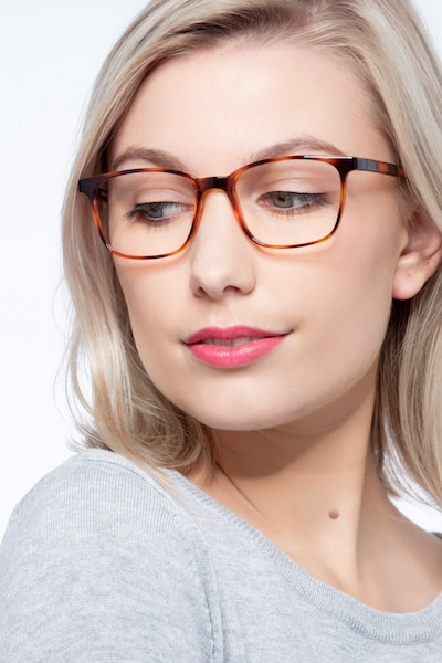 Soul Black Brown Plastic Eyeglass Frames for Women from EyeBuyDirect