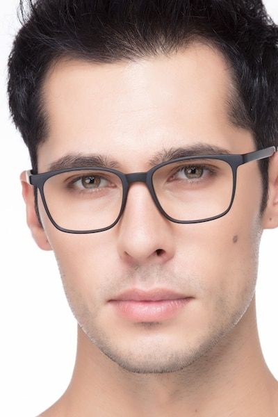 Soul Black Plastic Eyeglass Frames for Men from EyeBuyDirect