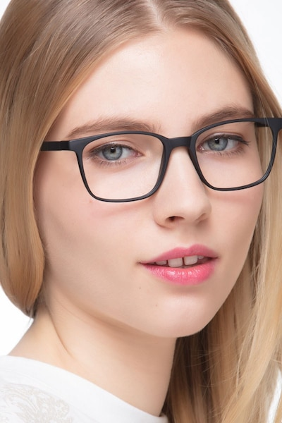 Soul Black Plastic Eyeglass Frames for Women from EyeBuyDirect