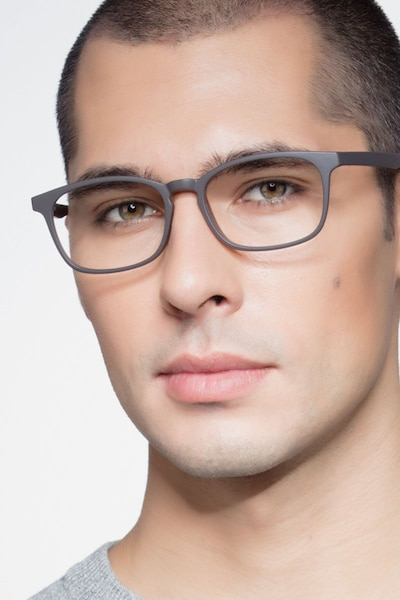 Forest Matte Brown Plastic Eyeglass Frames for Men from EyeBuyDirect