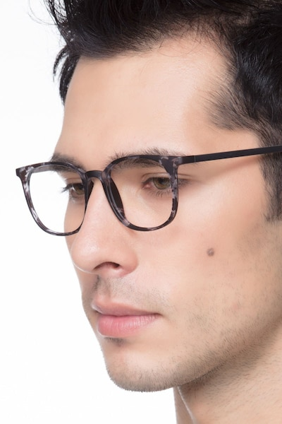 Cheer Swirled Gray Plastic Eyeglass Frames for Men from EyeBuyDirect