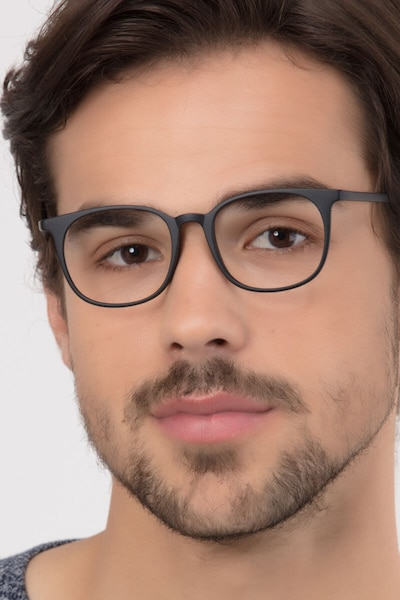 Cheer Matte Black Plastic Eyeglass Frames for Men from EyeBuyDirect