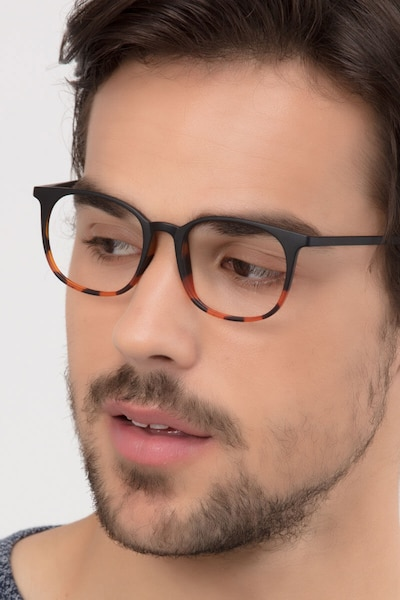 Cheer Black Tortoise Plastic Eyeglass Frames for Men from EyeBuyDirect