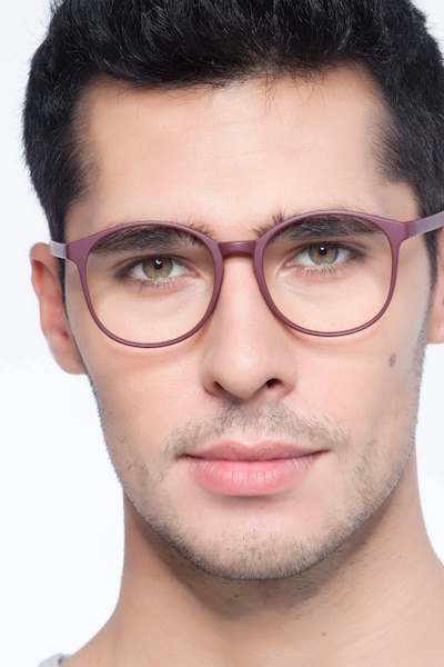 Days Matte Red Plastic Eyeglass Frames for Men from EyeBuyDirect