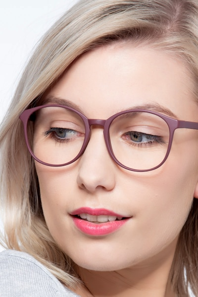 Days Matte Red Plastic Eyeglass Frames for Women from EyeBuyDirect