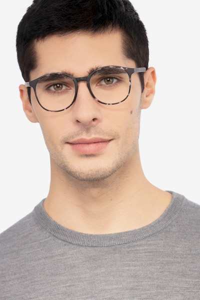 Days Floral Plastic Eyeglass Frames for Men from EyeBuyDirect, Front View