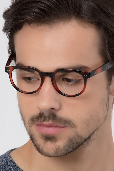 Achiever Brown Plastic Eyeglass Frames for Men from EyeBuyDirect