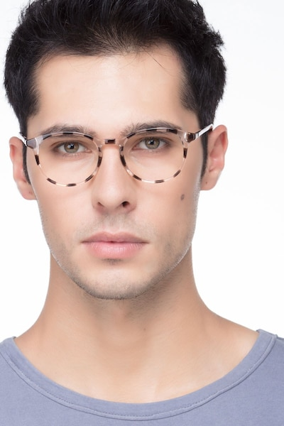 Brace Dark Brown Plastic Eyeglass Frames for Men from EyeBuyDirect, Front View