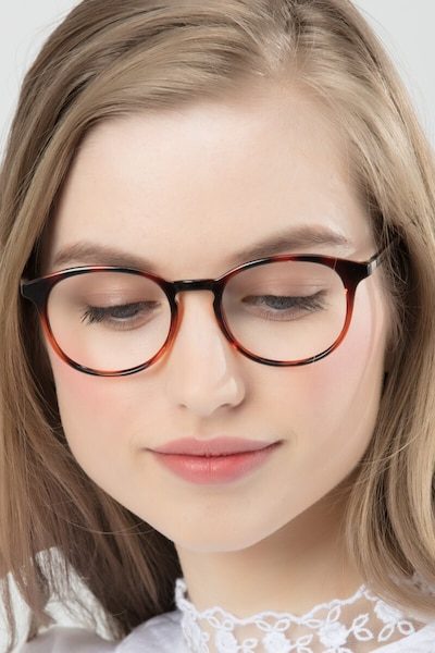 Brace Tortoise Plastic Eyeglass Frames for Women from EyeBuyDirect
