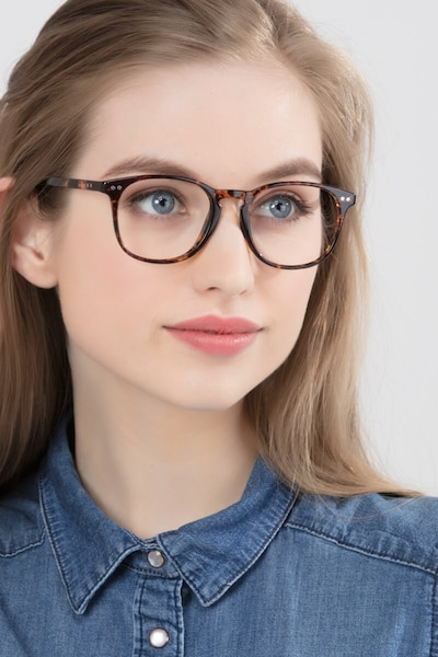 Record Floral Plastic Eyeglass Frames for Women from EyeBuyDirect, Front View