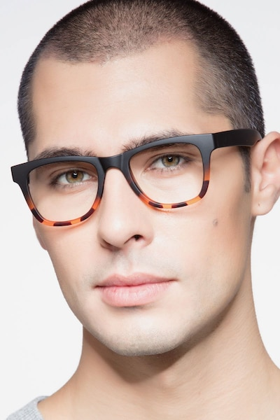 Project Black Tortoise Plastic Eyeglass Frames for Men from EyeBuyDirect