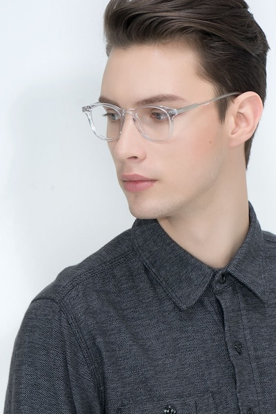 Symmetry Translucent Acetate Eyeglass Frames for Men from EyeBuyDirect, Front View