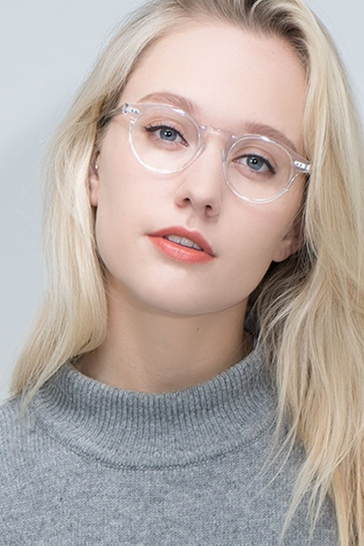 Theory Clear Acetate Eyeglass Frames for Women from EyeBuyDirect