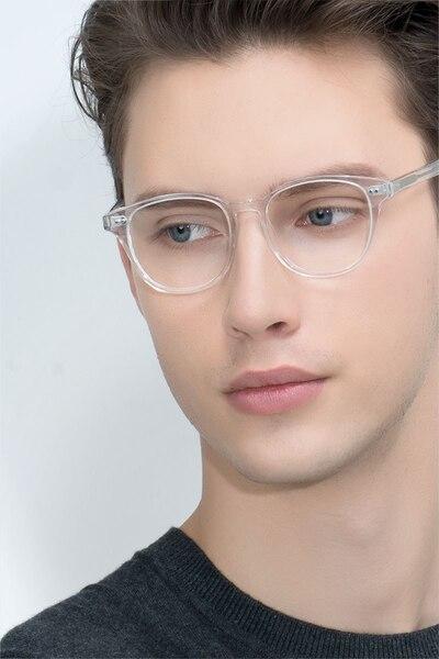 Lucid Translucent Acetate Eyeglass Frames for Men from EyeBuyDirect