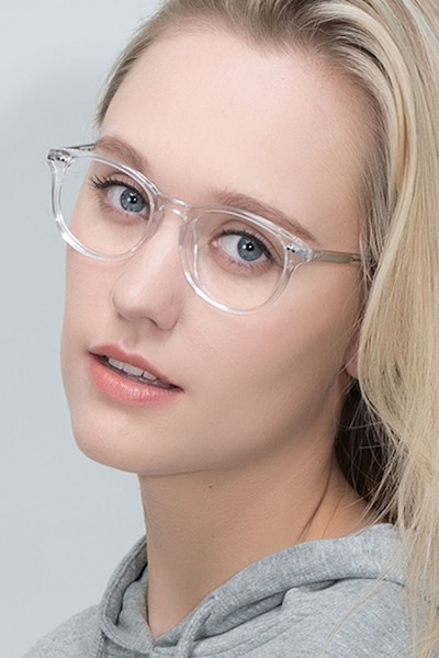 bea7d4738b Aura Translucent Acetate Eyeglass Frames for Women from EyeBuyDirect