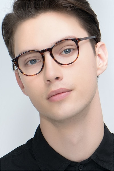 Prism Tortoise Acetate Eyeglass Frames for Men from EyeBuyDirect
