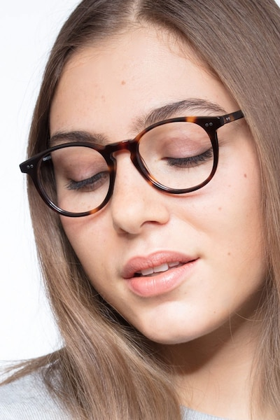 Prism Tortoise Acetate Eyeglass Frames for Women from EyeBuyDirect