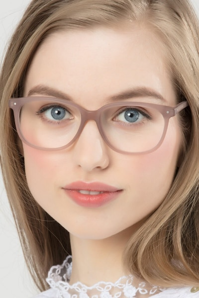 Escape Matte Pink Acetate Eyeglass Frames for Women from EyeBuyDirect
