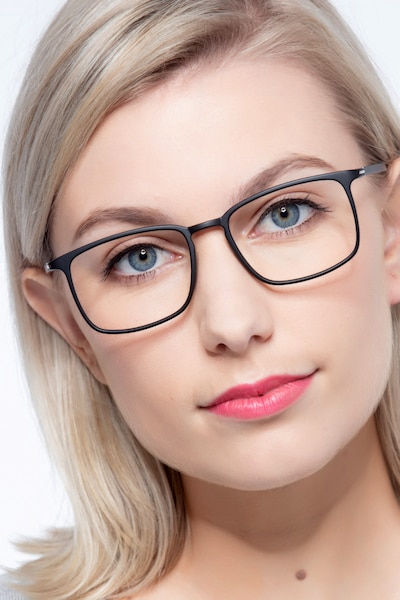 Structure Black Plastic Eyeglass Frames for Women from EyeBuyDirect