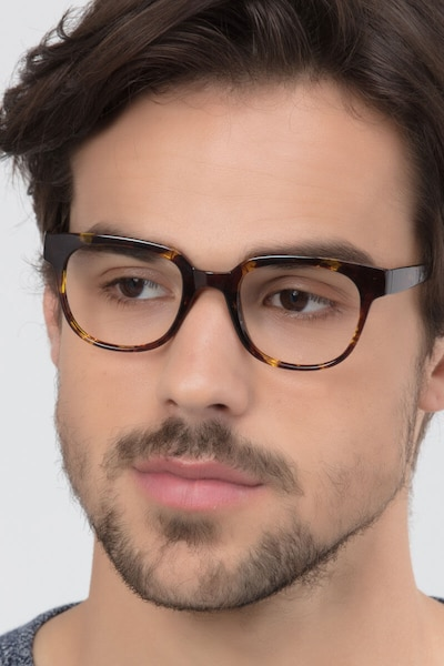 Flashback Honey Tortoise Plastic Eyeglass Frames for Men from EyeBuyDirect