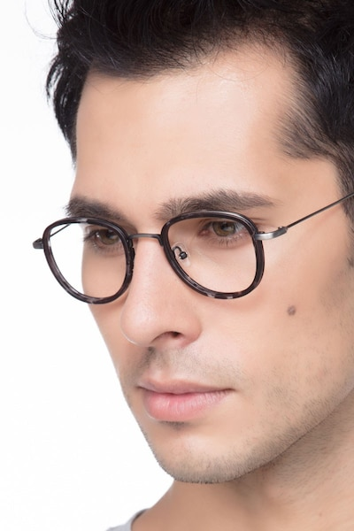 Vagabond Gray Floral Plastic Eyeglass Frames for Men from EyeBuyDirect