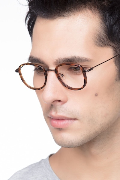 Vagabond Tortoise Plastic Eyeglass Frames for Men from EyeBuyDirect