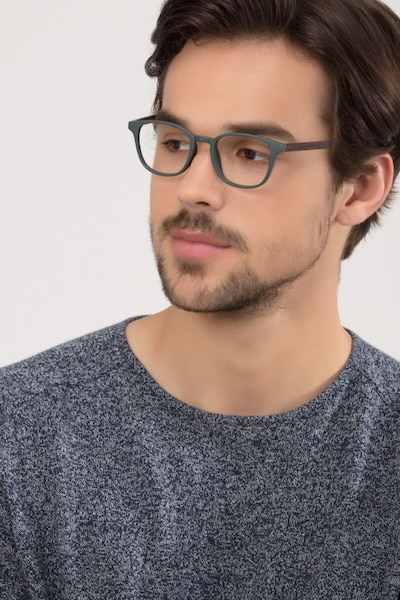 Allegory Dark Green Plastic Eyeglass Frames for Men from EyeBuyDirect