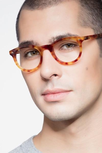Andromeda Cinnamon Tortoise Acetate Eyeglass Frames for Men from EyeBuyDirect