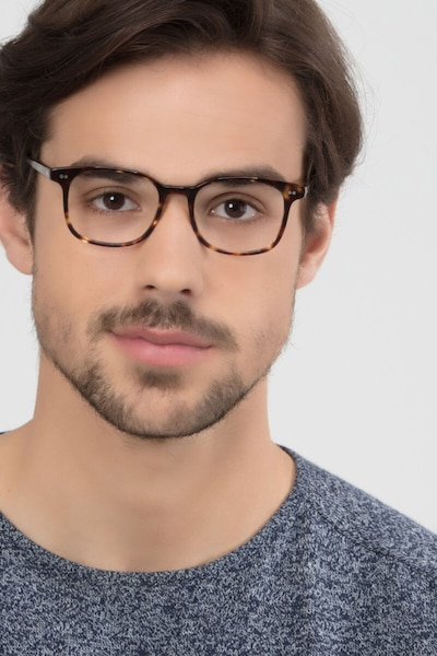 Lift Tortoise Acetate Eyeglass Frames for Men from EyeBuyDirect, Front View