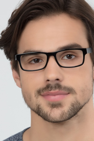 Aidan Black Acetate Eyeglass Frames for Men from EyeBuyDirect