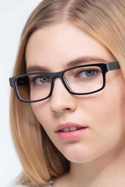 Aidan Noir Acétate Montures de Lunettes pour Femmes d'EyeBuyDirect