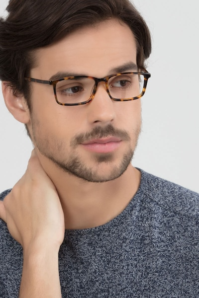 Crane Tortoise Acetate Eyeglass Frames for Men from EyeBuyDirect, Front View