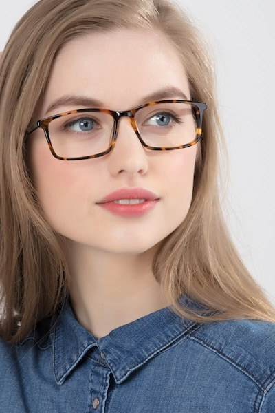 Crane Tortoise Acetate Eyeglass Frames for Women from EyeBuyDirect, Front View