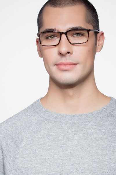 Crane Striped Acetate Eyeglass Frames for Men from EyeBuyDirect, Front View