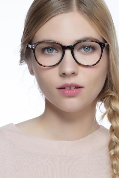 Pride Brown Floral Acetate Eyeglass Frames for Women from EyeBuyDirect