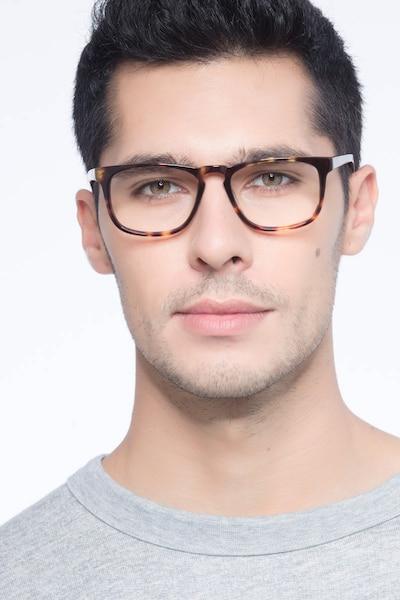 Rhode Island Écailles Acétate Montures de Lunettes pour Hommes d'EyeBuyDirect, Vue de Face