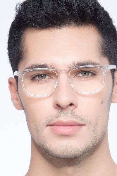Rhode Island Clear Acetate Eyeglass Frames for Men from EyeBuyDirect