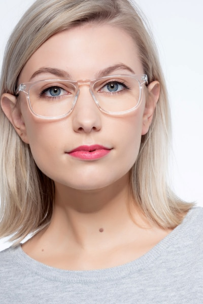 Rhode Island Clear Acetate Eyeglass Frames for Women from EyeBuyDirect, Front View