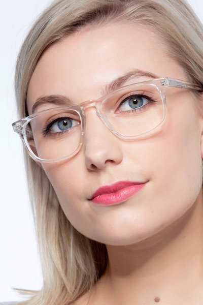 Rhode Island Clear Acetate Eyeglass Frames for Women from EyeBuyDirect