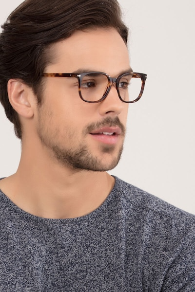 Absolutely Tortoise Acetate Eyeglass Frames for Men from EyeBuyDirect, Front View