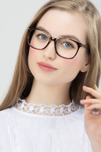Absolutely Tortoise Acetate Eyeglass Frames for Women from EyeBuyDirect, Front View