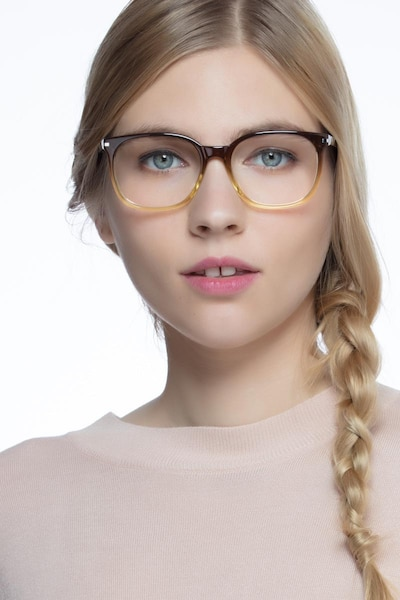 Absolutely Brown Acetate Eyeglass Frames for Women from EyeBuyDirect
