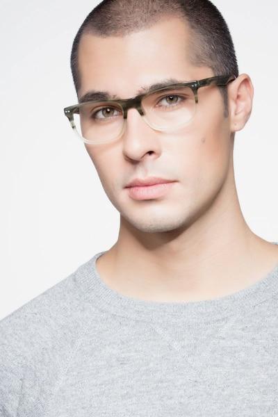 Koi Green Acetate Eyeglass Frames for Men from EyeBuyDirect