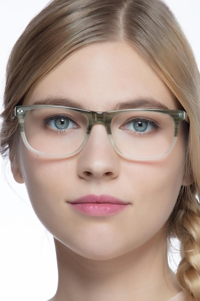 Koi Vert Acétate Montures de Lunettes pour Femmes d'EyeBuyDirect